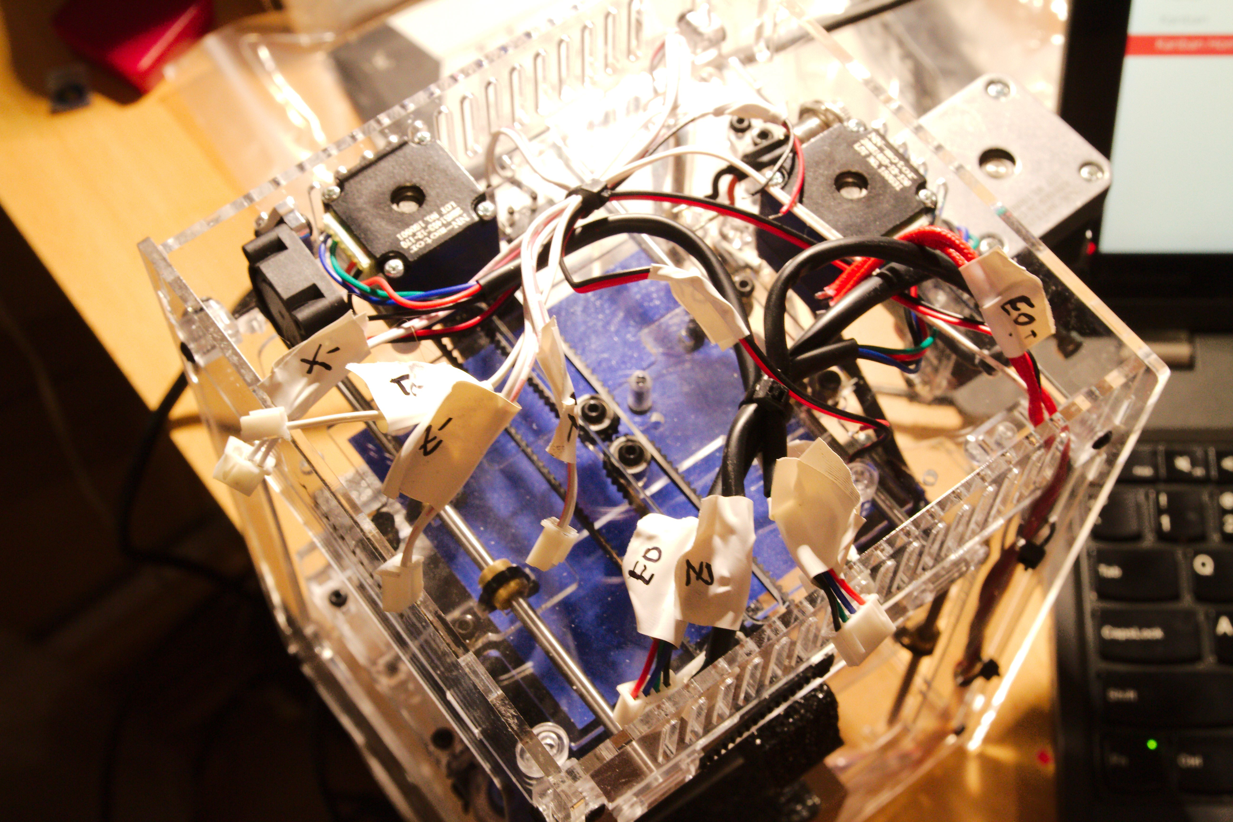 Mini 3d Printer From Hobbyking Running With Cramps Board And Ramps 14 The Has Approximately Same Size As However Including Bbb Is Slightly Thicker Than