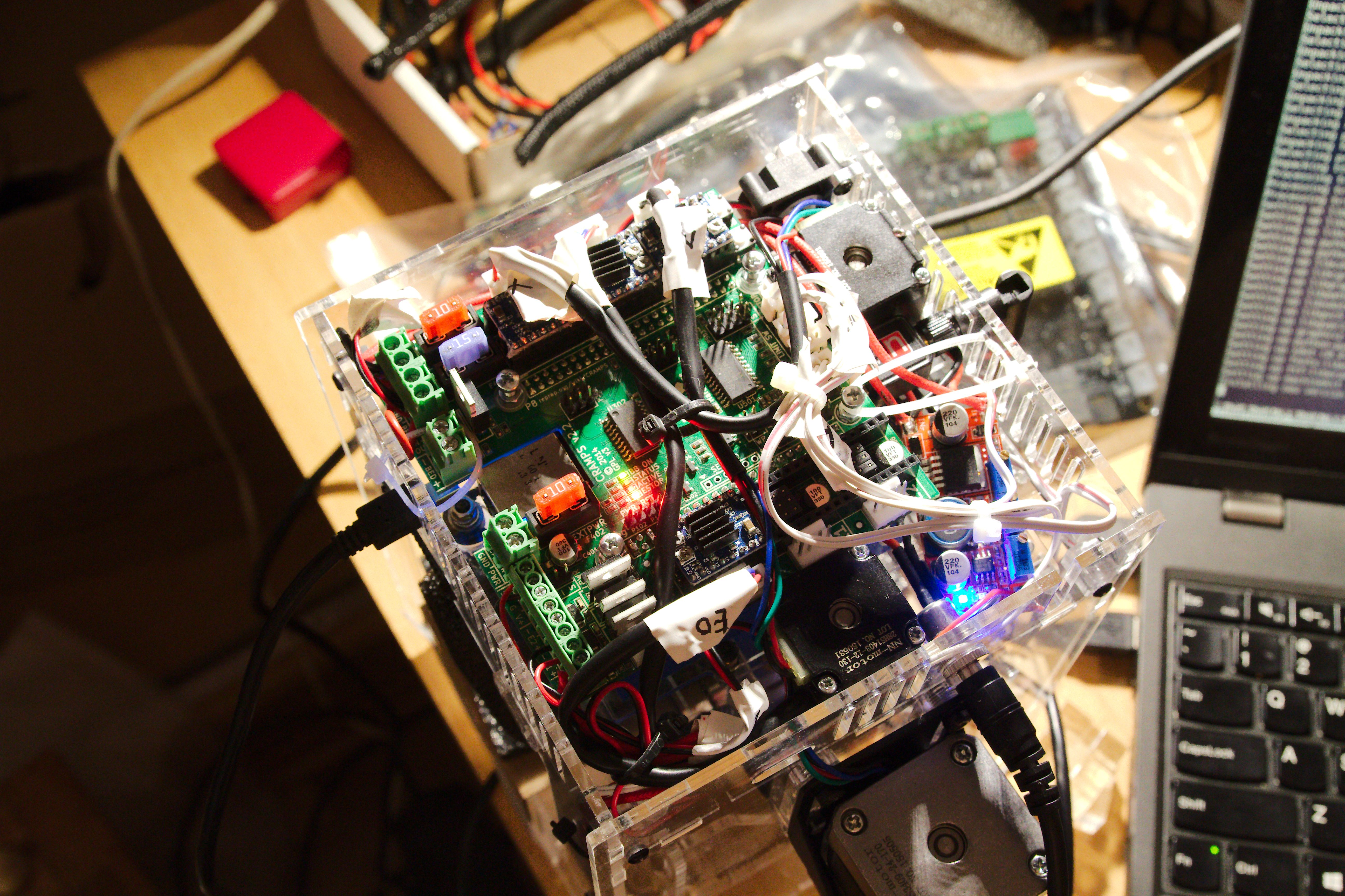 Mini 3d Printer From Hobbyking Running With Cramps Board And Camt Launching Firstever For Printed Circuit Therefore One Has To Connect All The Power Inputs Of 12v Supply That Comes