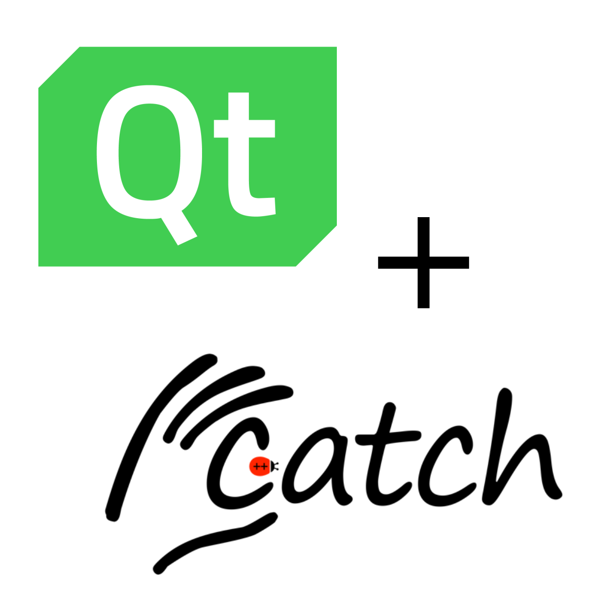 Qt and catch logo