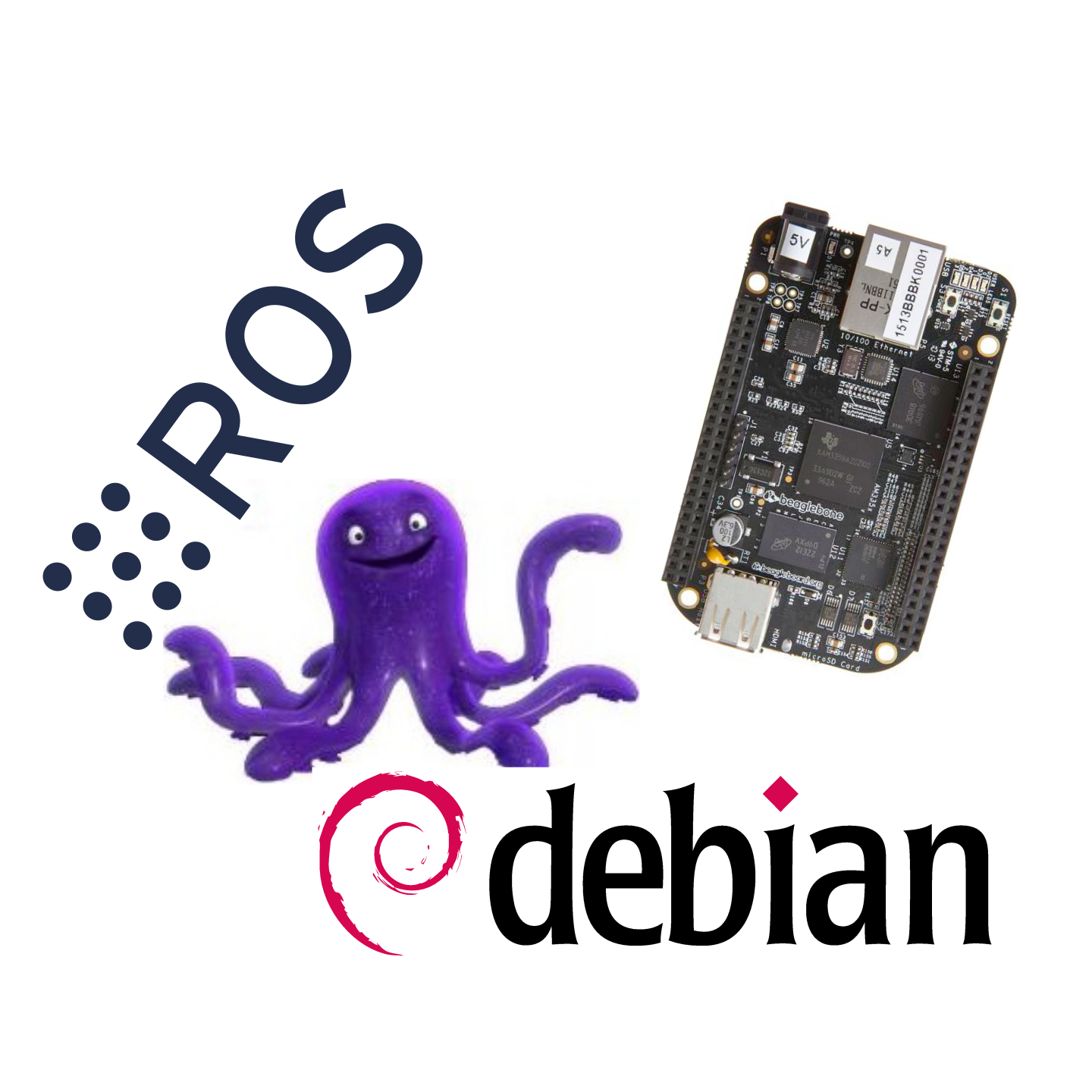 ROS with Debian Stretch on the BeagleBone Black/Green/Blue - Machine