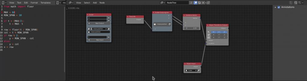 Blender Animation Nodes