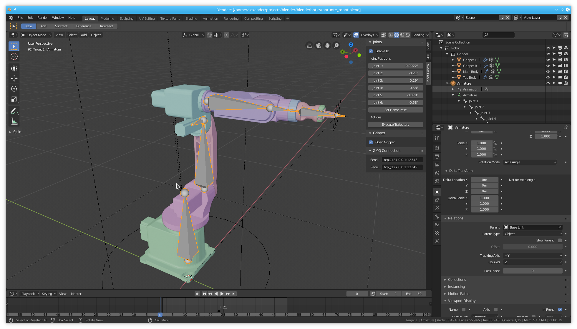 Animating Industrial Robots with Blender - Machine Koder