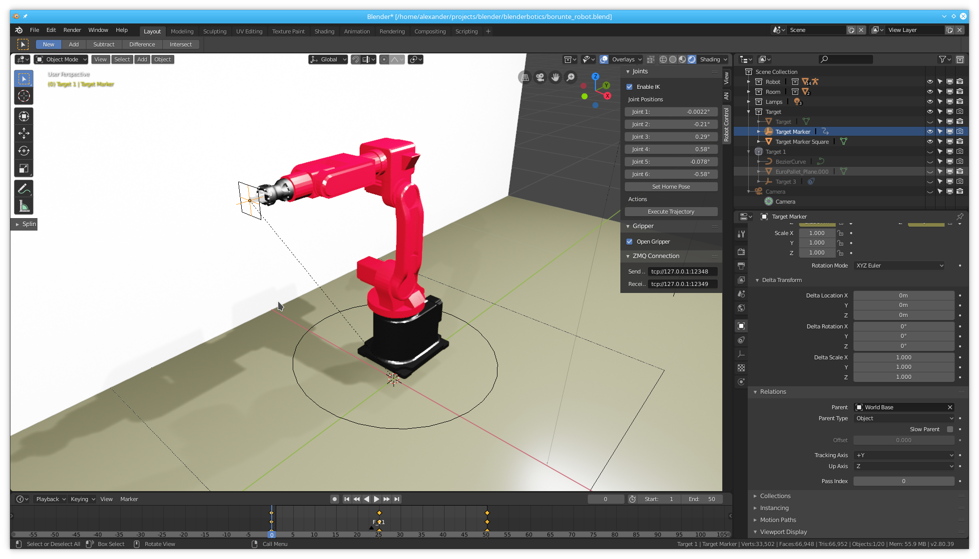 Blender 2.8 industrial robot
